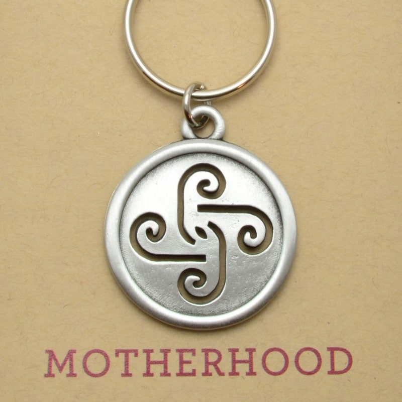 Key Ring Motherhood Pewter