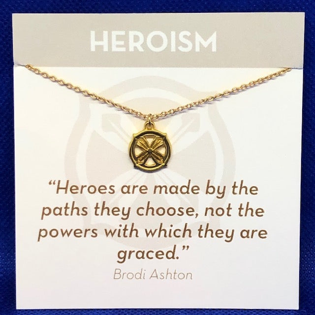 Gold Necklace Heroism