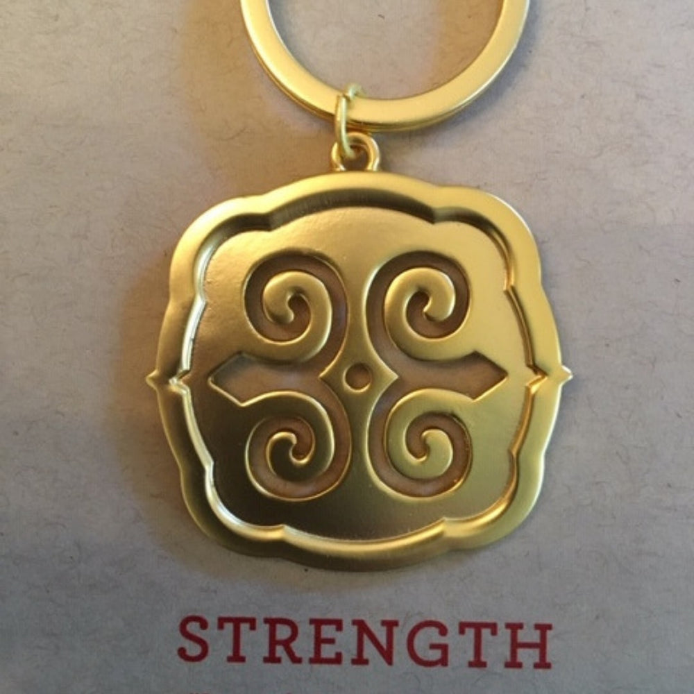 Key Ring Gold Strength
