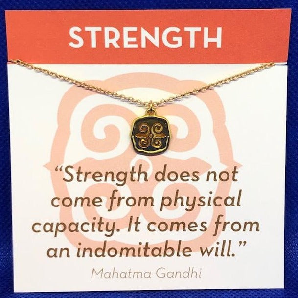 Gold Necklace Strength