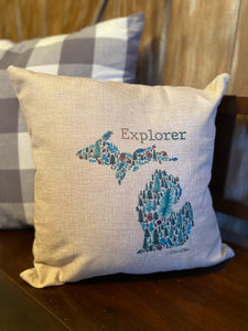 Explorer Michigan Pillow