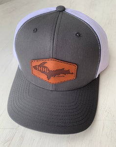 Logo Leather Tagged Hat
