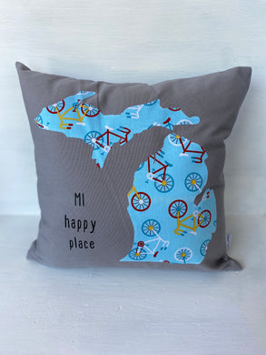 MI Happy Place Pillow