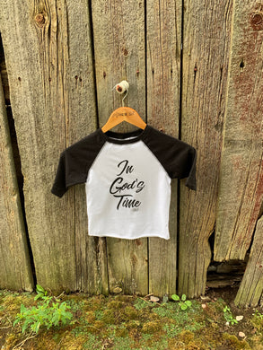 In God's Time Toddler Raglan