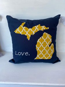 Michigan Love Pillow