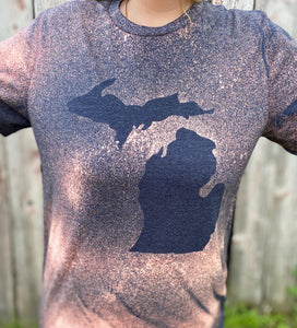 Distressed Michigan Tee