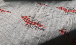 Made With Love Buffalo Plaid Swaddle
