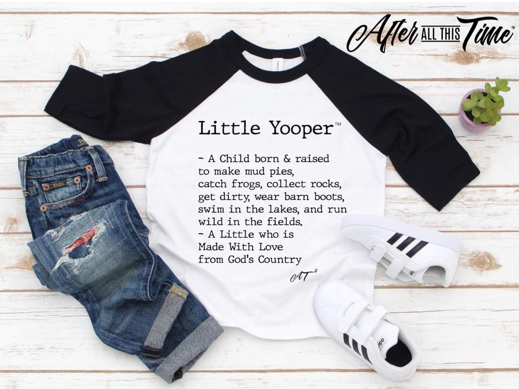 Little Yooper Raglan Tee