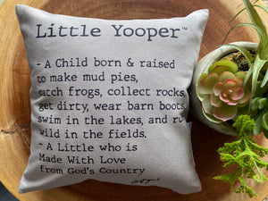 10 x 10 Little Yooper Mini Pillow