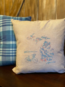 Gallivanter Michigan Pillow