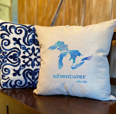 Adventurer Michigan Pillow