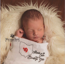 Load image into Gallery viewer, Ohio - Made With Love Swaddle