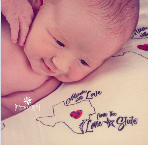 Texas - Made With Love Swaddle