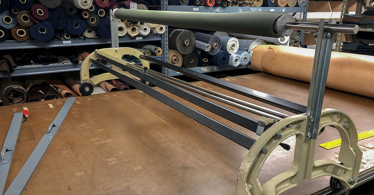 ARTIFACT studio fabric spreader and cutting table