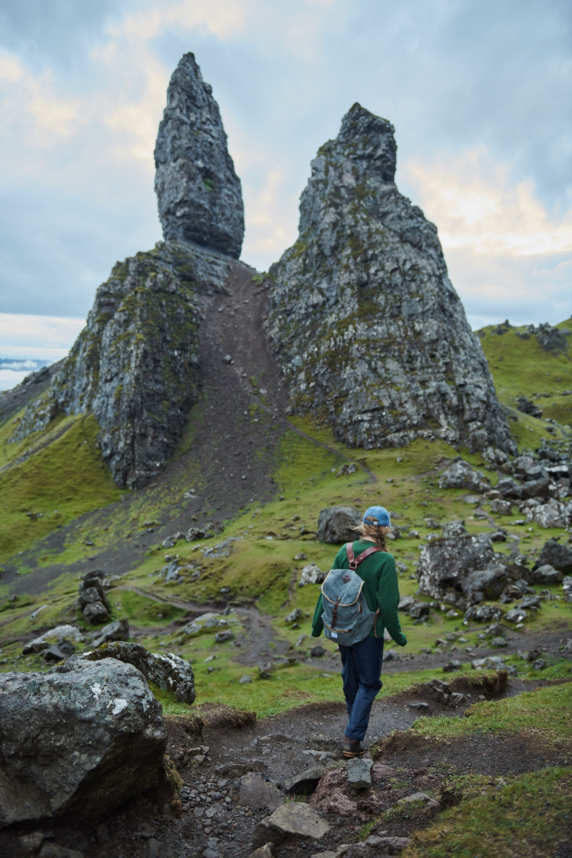 ARTIFACT Wax Twill Backpack in Isle of Skye Scotland