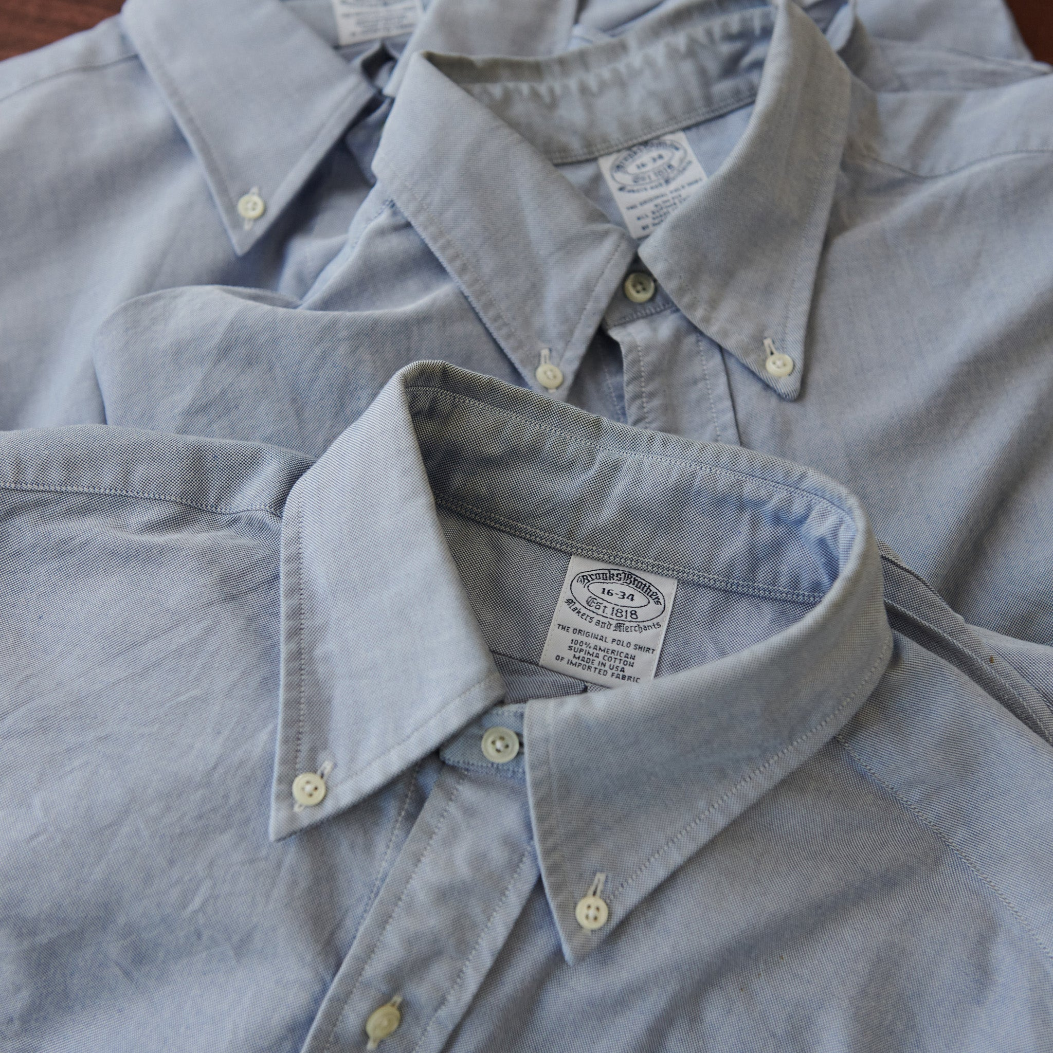 Brooks Brothers Supima Cotton Button Down Oxford Cloth Shirt