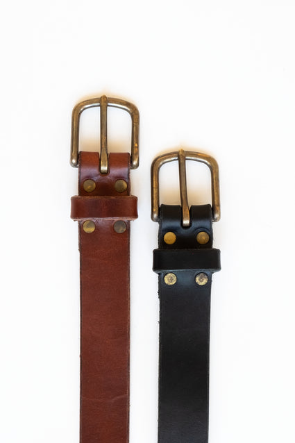 Harness Leather Belt w/ Classic Buckle