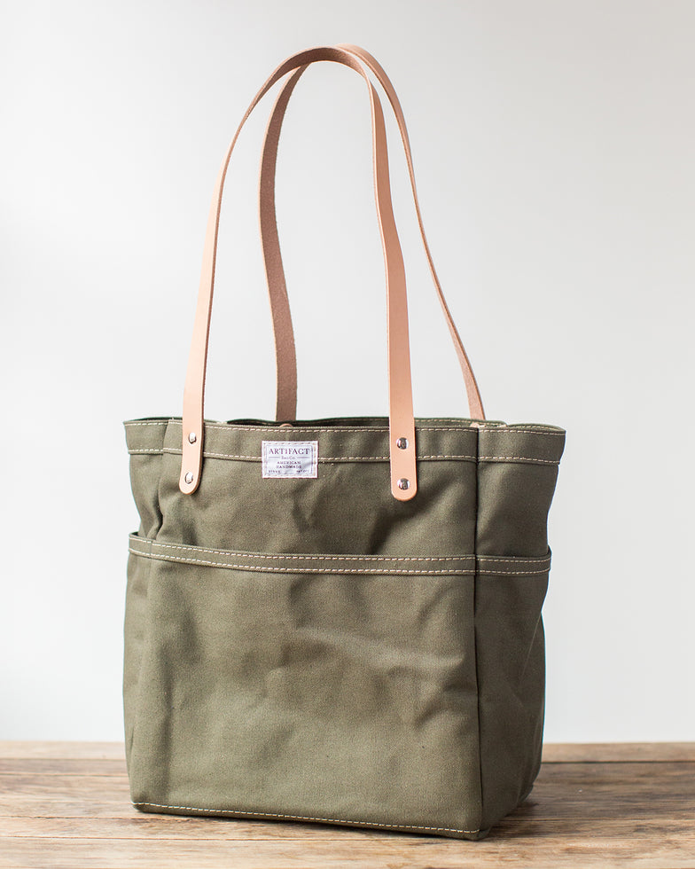 Duck Canvas & Leather Day Tote