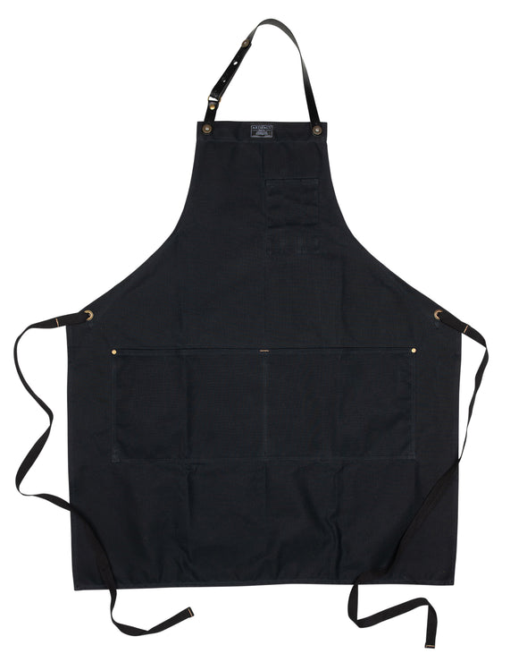 448H Black Wax Cotton Apron