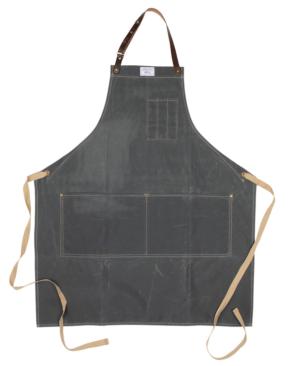 448H Slate Wax Cotton Apron