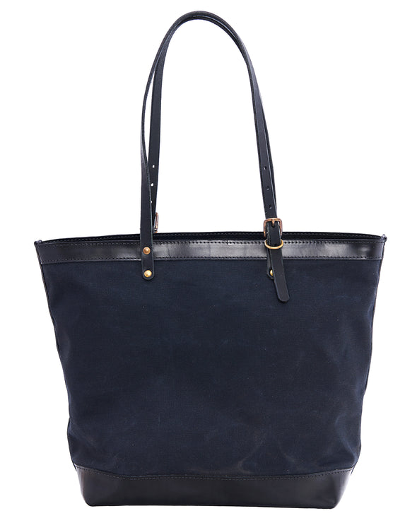 ARTIFACT black Wax Canvas Zipper Tote - front
