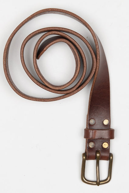 ARTIFACT bourbon harness leather belt with classic buckle