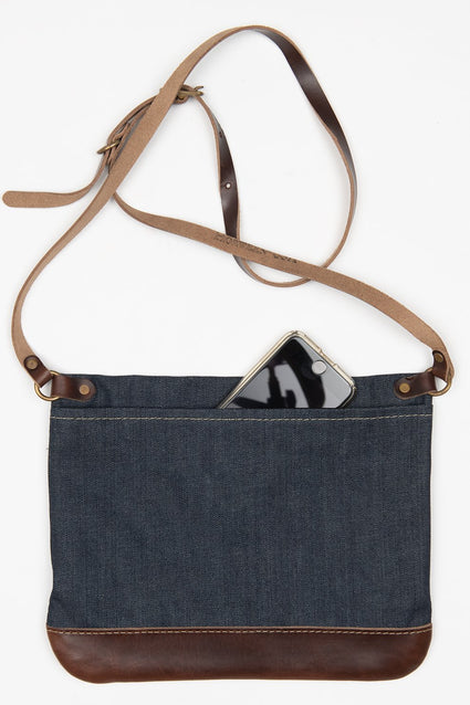 ARTIFACT Cone denim crossbody bag - back