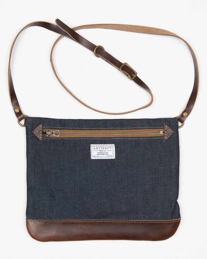 ARTIFACT Cone denim crossbody bag - front
