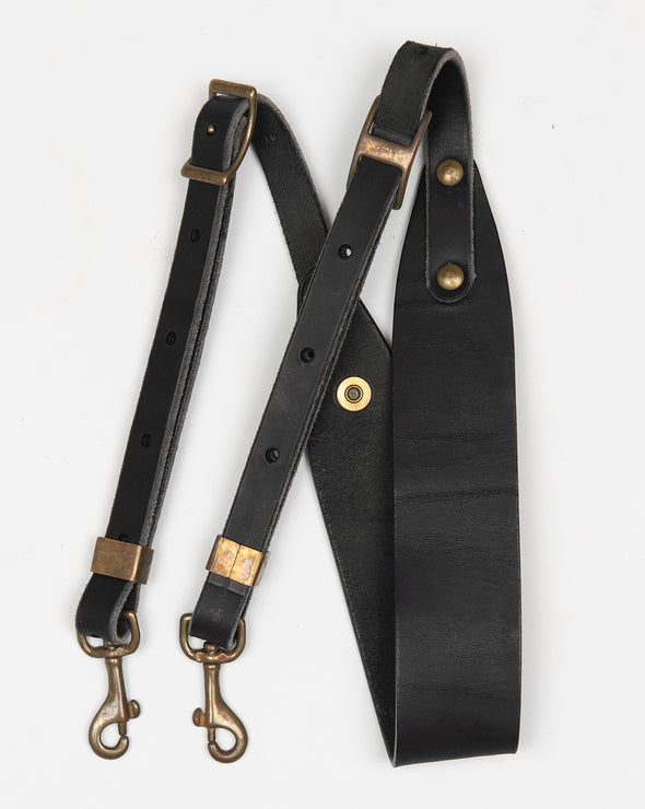 ARTIFACT black harness leather shoulder strap