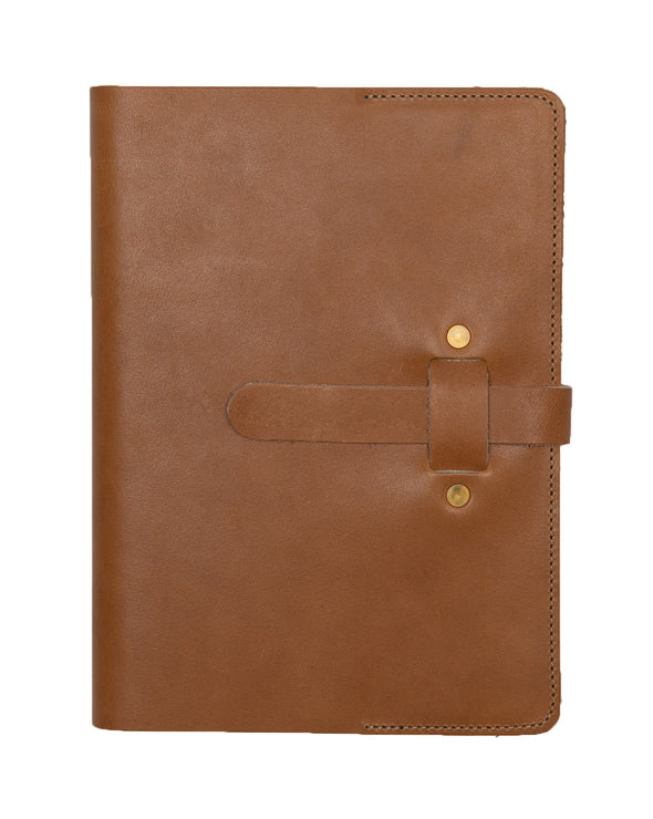 ARTIFACT leather A5 journal - tan front