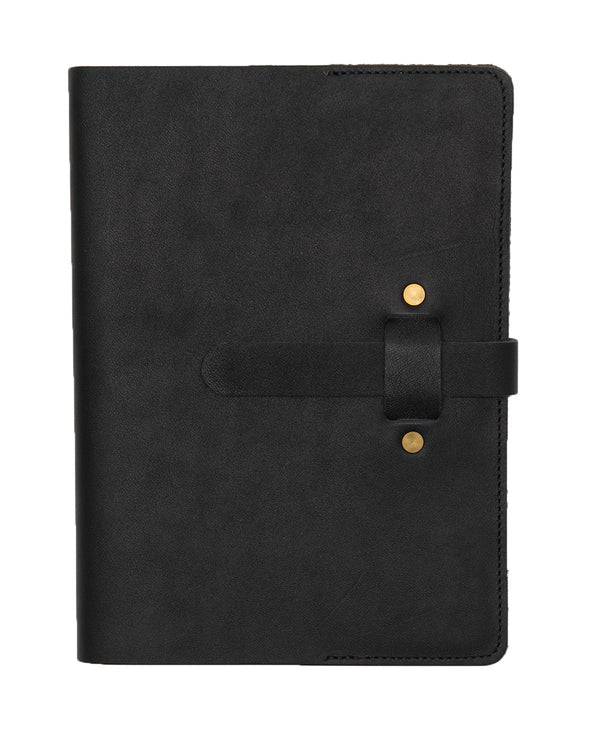 ARTIFACT leather A5 journal - black front
