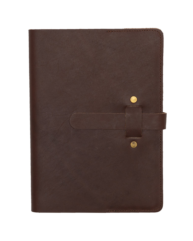 ARTIFACT leather A5 journal - brown front