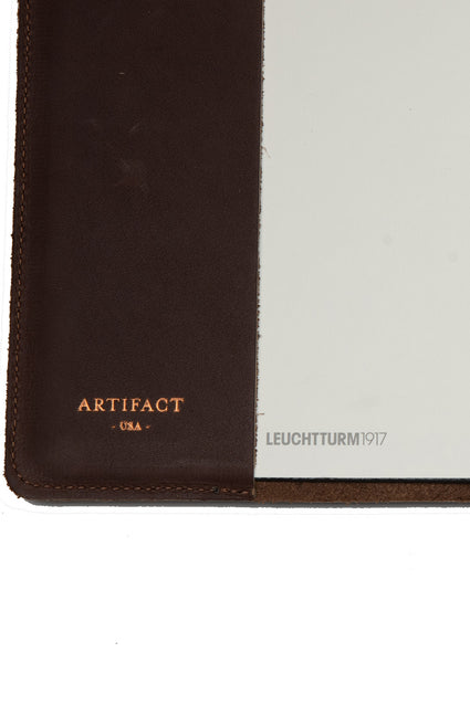 ARTIFACT leather A5 journal - foil logo