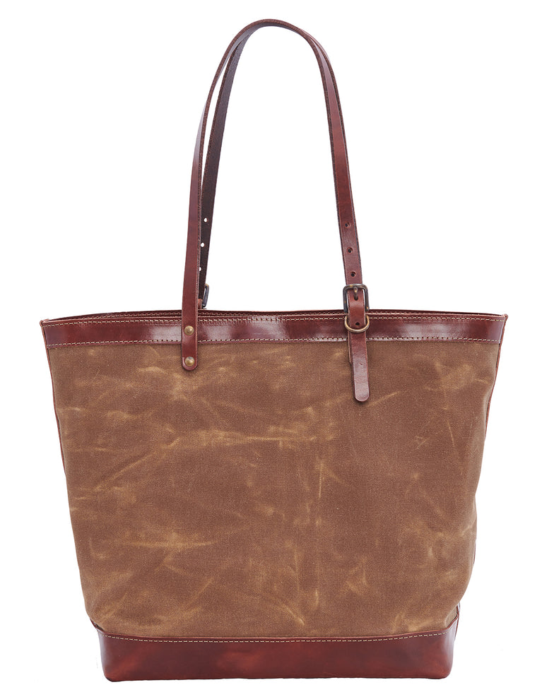 ARTIFACT Rust Wax Canvas Zipper Tote - front
