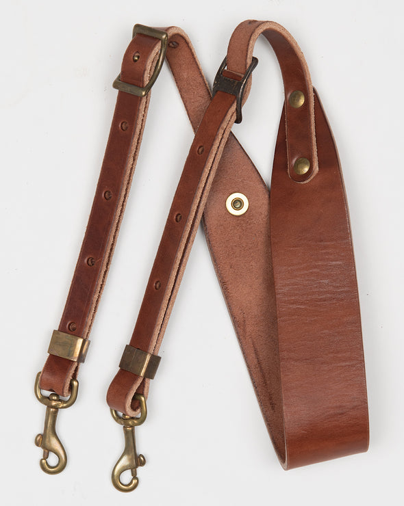 ARTIFACT bourbon harness leather shoulder strap