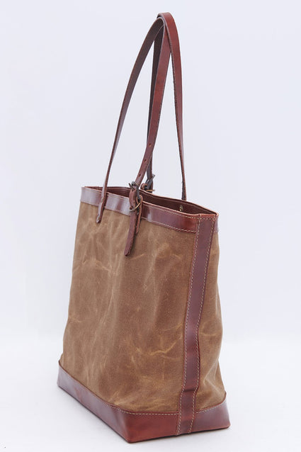 ARTIFACT Rust Wax Canvas Zipper Tote - side