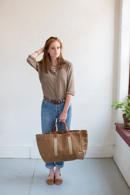 ARTIFACT Rust Wax Canvas Garden Tote