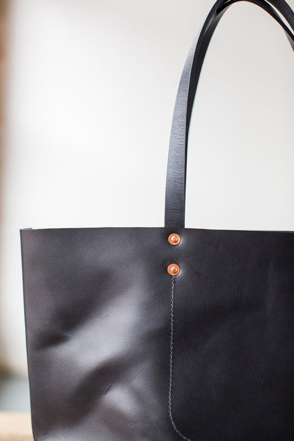 ARTIFACT Harness Leather Tote Bag - Black