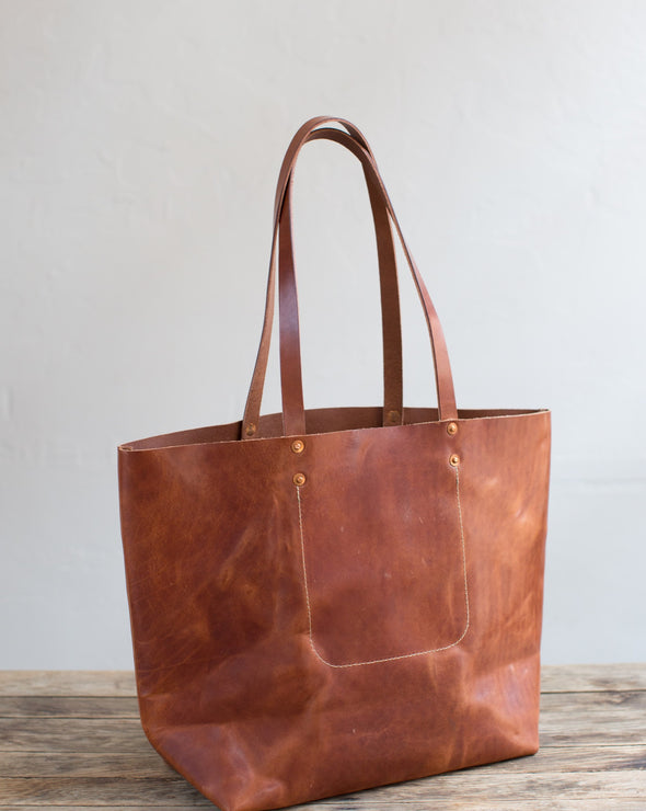 ARTIFACT Harness Leather Tote Bag - Bourbon