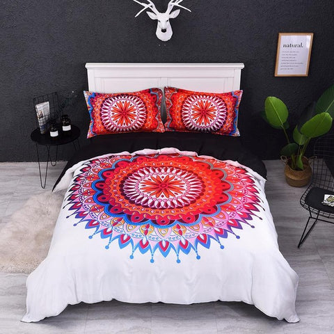 3D Colorful Three-Piece Set Luxury Bedding Set