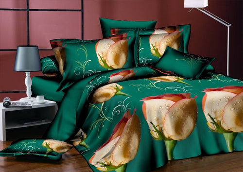 Wedding Floral Printed Bed linens Bedding Set