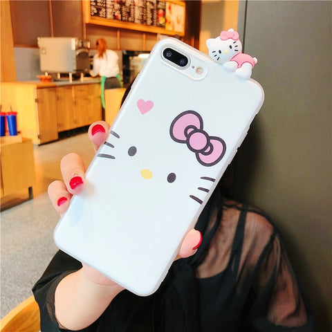 Cute 3D Pink Hello Kitty Cat Case for iPhone