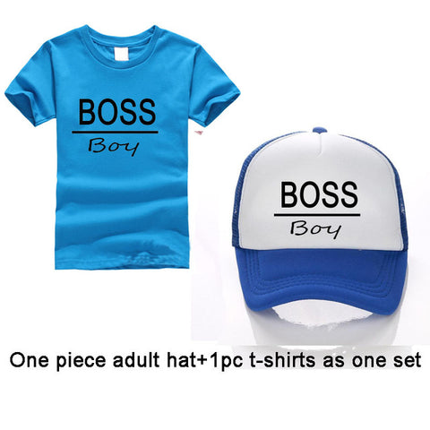 Image of Free Family BOSS Cotton T-shirts and Baseball Cap