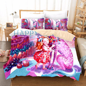 Girl & Unicorn Comforter Bedding Set