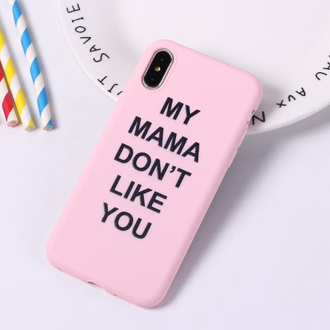 Graffiti Candy Color Letter Quote Soft Phone Case