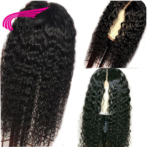 KRN 13X6 Lace Front Wig With Baby Hair 8-24 Inch Remy Hair Deep Part Curly Pre Plucked Brazilian Human Hair Wigs For Women