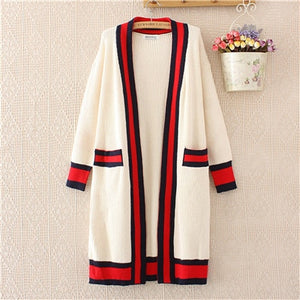 Vipapple Patchwork Long Cardigan