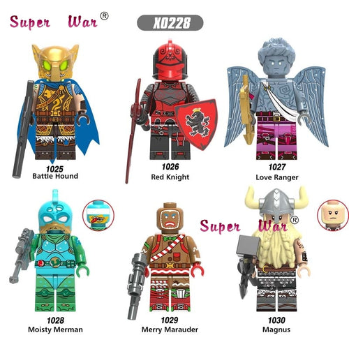 Single Building Blocks Weapon Battle Hound Red Knight Love Ranger Moisty Merman Merry Marauder Action Figure toys for children