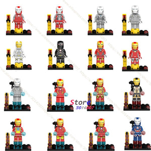 Single Marvel Avengers Iron Man Armor IronMan Mark collectable figure Tony Stark Patriot building blocks bricks toy for children