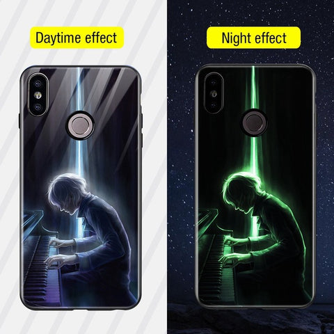 Silicone Glass Phone Case For Xiaomi Redmi Note 5 6 Pro Luxury Cover